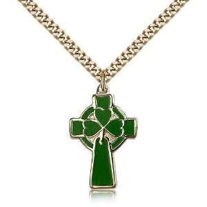 IceCarats Designer Jewelry Gift Gold Filled Celtic Cross Pendant