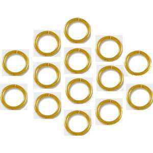 8mm Open Gold Plated Jump Rings 18g. Q.100 Arts, Crafts
