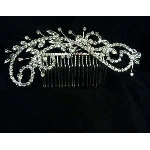 Side Comb Marquise Swirls Sparkle Rhinestone Crystal Wedding Hair