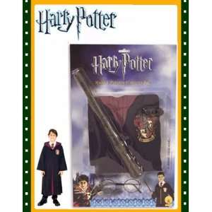 Child Harry Potter Costume Robe Wand Glasses Set New Toys & Games