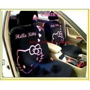 10PCS HELLO KITTY HEARTS UNIVERSAL CAR SEAT COVER SET
