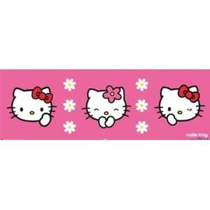 Hello Kitty Triptych Cute Japanese Cartoon Poster 12 x 36 inches