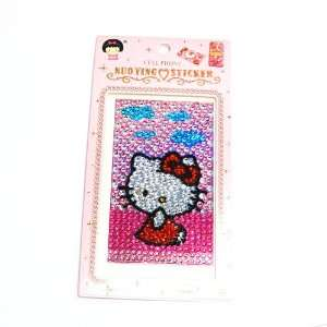 HELLO KITTY blue cloud cellphone crystal sticker for