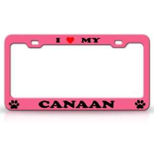 I LOVE MY CANAAN Dog Pet Animal High Quality STEEL /METAL