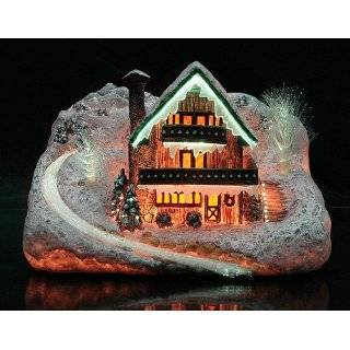 Christmas Music Box Holiday Fiber Optic Lighted Village Musical
