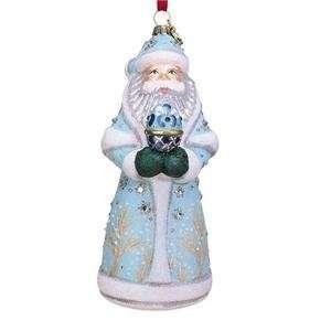 com ORNAMENT, RUSSIAN SANTA DESIGN, BLOWN GLASS   Christmas Ornament