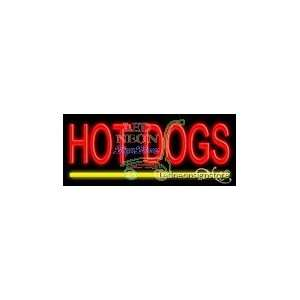 Hot Dogs Neon Sign: Office Products