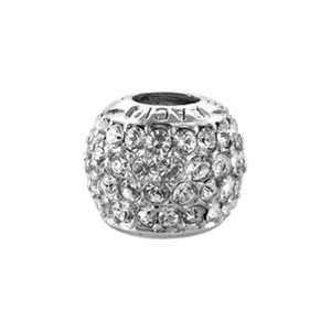 Bacio Italian Swarovski Bead Swarovski Crystal Italian Black Charm