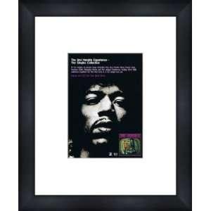 JIMI HENDRIX Singles Collection   Custom Framed Original Ad   Framed