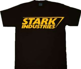 Iron Man Stark Industries Black T shirt Tee Clothing