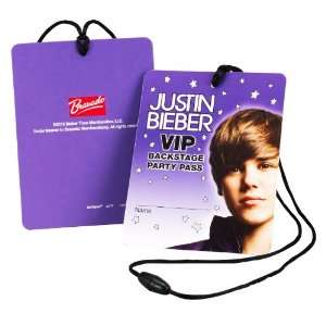 Industries, Inc. Justin Bieber VIP Backstage Passes