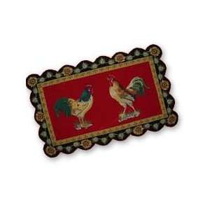 3 x 5 Hooked Rug, French Country Rooster Home & Kitchen