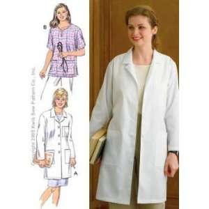 Kwik Sew Ladies Lab Coat & Top Pattern By The Each Arts