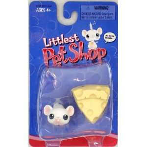 Littlest Pet Shop Single Pack White Mouse and Cheese Toys & Games