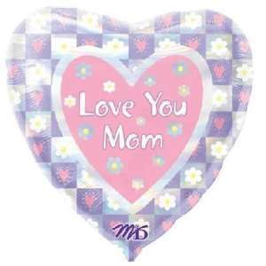 Mothers Day Balloons 18 Love You Mom Holographic Toys & Games
