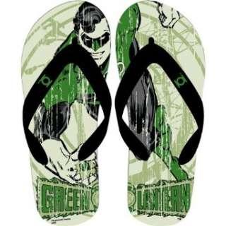 Green Lantern Flip Flops Clothing