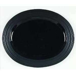 Mikasa Swirl Black Oval Serving Platter, Fine China