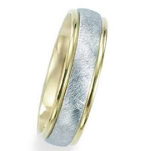 7.0 Millimeters Two Gold Colors Wedding Band Ring 14Kt