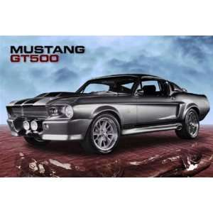 Mustang GT500 Ford Muscle Car Drag Racing Poster 16 x 20