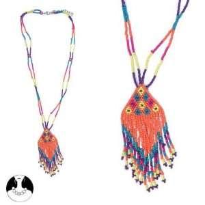 women necklace necklace 50 cm 2 rows fushia orange comb glass Jewelry