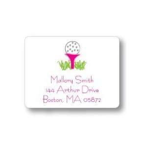 Polka Dot Pear Design   Square Stickers (Pink Tee) Office