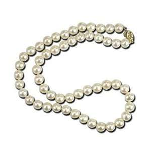 Jewelry Idea Gold Necklace With White Pearls   Length 18 Jewelry