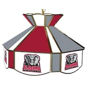 of Alabama Crimson Tide Stained Glass Swag Lamp