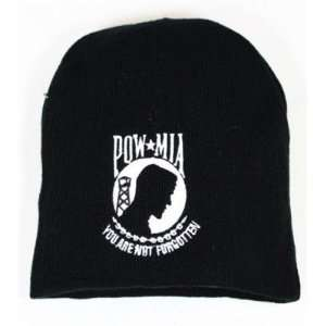 Pow Mia Black Skull Beanie Ski Knit Hat Cap New Sports