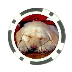Cute lab puppy Poker Chip Card Guard Great Gift Idea