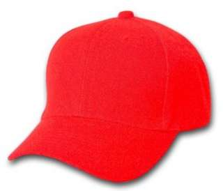 Plain Summer Baseball Cap Hat  Red  Clothing