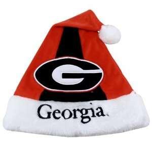 Georgia Bulldogs Red Colorblock Santa Hat