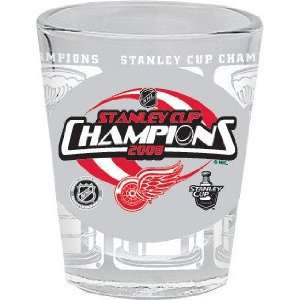 Red Wings 2008 Stanley Cup Champs Shot Glass Sports & Outdoors