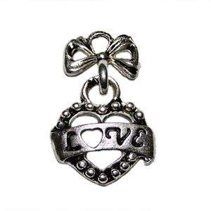 Antique Metal Silver Charms for Necklace, Bracelet, or Craft Project