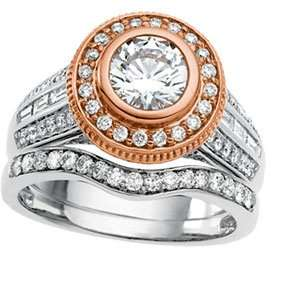 Rose Gold Diamond Semi Mount Engagement Ring DivaDiamonds Jewelry