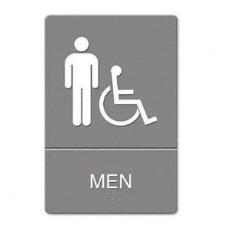 Quartet ADA Restroom Sign, Women Symbol with Tactile Graphic, Molded