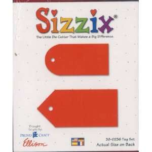 Sizzix Originals TAG SET Die RED Home & Kitchen