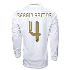 adidas Real Madrid 11/12 SERGIO RAMOS Home LS Soccer Jersey