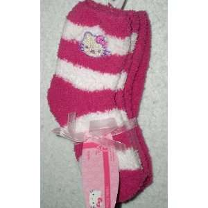Hello Kitty Super Soft Socks, Size 6 8.5,Dark Pink/Dk Pik