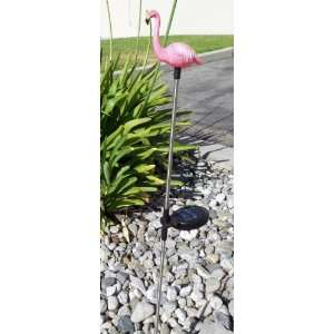Solar Pink Flamingo Garden Stake Color Change LED Light