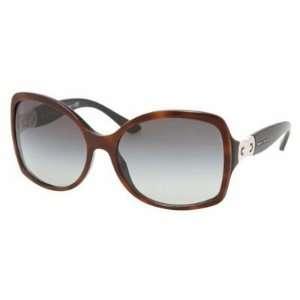 Bvlgari 8065 Top Havana On Black/gray Gradient Sunglasses