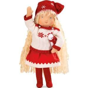 Kruse Handcrafted Holiday Waldorf Style Doll, 14 Tall: Toys & Games