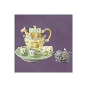 Precious Moments, Enesco, Noahs Ark Mini Tea Set
