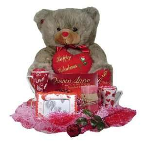 Valentine Forever Gift Set   23 Light Grey Bear with with 2 Cups