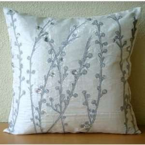 Sale   Crystal Willow   18x18 Inches Throw Pillow Covers   Silk Pillow