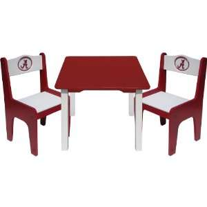 Creations Alabama Crimson Tide Table & Chair Set Furniture & Decor