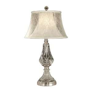 Dale Tiffany GT10227 Crystal Table Lamp, Chrome and Fabric Shade