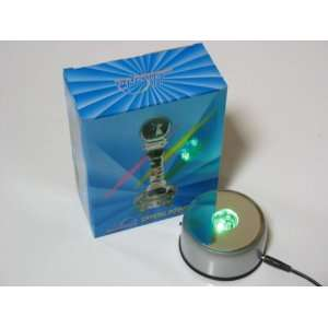 AC 1 3D Laser Crystal Display Light Base AC Powered Rotating Turntable