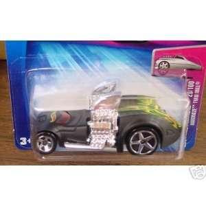 Mattel Hot Wheels 2004 First Editions Black Hardnoze Twin Mill #020 1