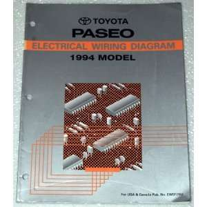 1994 Toyota Paseo Electrical Wiring Diagram (EL44 Series