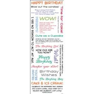 Vellum Stickers   Happy Birthday Arts, Crafts & Sewing